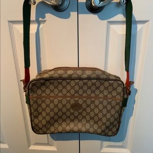 Vintage Gucci Messenger Tote Shoulder Briefcase